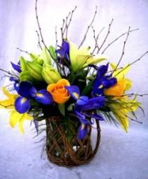 COLOURS OF SPRING Favourite Flower Vase