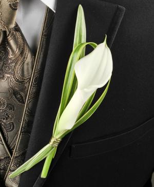 CLASSY CANDLELIGHT Prom Boutonniere in Riverside, CA | Willow Branch Florist of Riverside