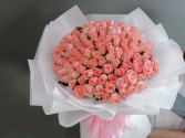 99/st pink roses bouquet