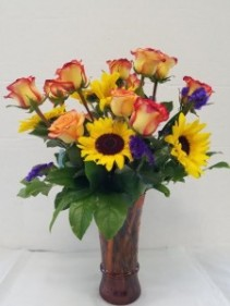 Rose and Sunflowers