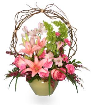 Trellis Flower Garden  Sympathy Arrangement in Du Bois, PA | BRADY STREET FLORIST