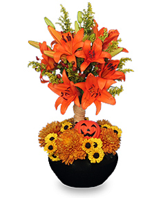 ORANGE YOU SPECIAL! Floral Topiary in Ozone Park, NY | Heavenly Florist