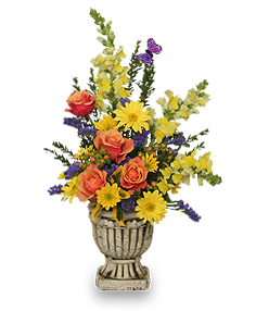 UPLIFTING FLORAL URN Arrangement in Wellington, CO | WELLINGTON FLOWERS and MORE