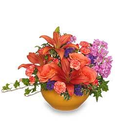FALL KALEIDOSCOPE Floral Arrangement in Nassawadox, VA   Florist By The Sea