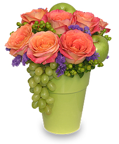 Superb Fruit U0026 Flower Garden Arrangement