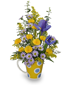 Cup O' Cheer Flower Arrangement in Canon City, CO | TOUCH OF LOVE FLORIST AND WEDDINGS