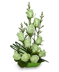 Jade Green Roses Arrangement in Richland, WA | ARLENE'S FLOWERS AND GIFTS
