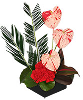 SPLASHED WITH STYLE Floral Centerpiece