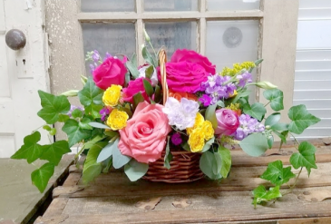 The Eugenia Bouquet Basket Arrangement