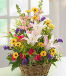 A Basket Full Of Pretty      FHF-29 Basket Arrangement
