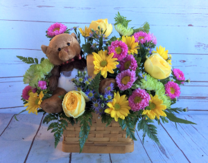 A Beary Bright Birthday Basket  in Culpeper, VA | ENDLESS CREATIONS FLOWERS AND GIFTS