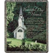 A Beautiful Day in Heaven Sympathy Throw Many Styles Available.  Call (304) 295-5680 for availability! in Vienna, WV | FOX'S FLORAL AND GIFTS