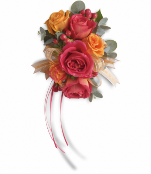 A Beautiful Sunset Wrist Corsage in Tulsa, OK | THE WILD ORCHID FLORIST