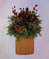 A Berry Basket Christmas Basket Arrangement