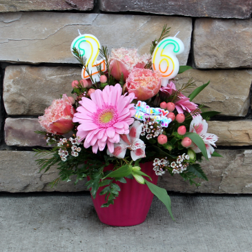 A Birthday Cupcake Birthday Arrangement