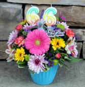 A Birthday Cupcake - Blue Birthday Arrangement