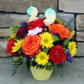 A Birthday Cupcake - Yellow Birthday Arrangement