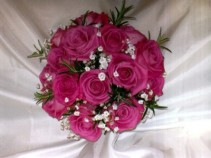 A Bouquet done in all roses can be done in any rose colour..pricing  determined by size of Bouquet