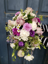 A bouquet of white and mauve  Call for estimate