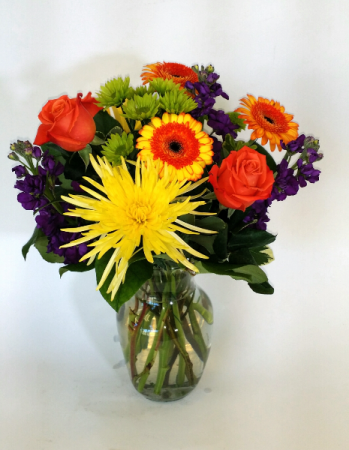 A Bright Mixed Vase Arrangement
