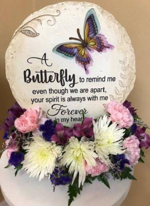 A Butterfly To Remind Me Stepping Stone in Springfield, IL | FLOWERS BY MARY LOU