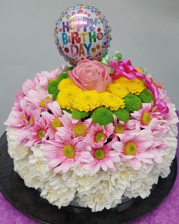 A cake to celebrate your day Arrangement