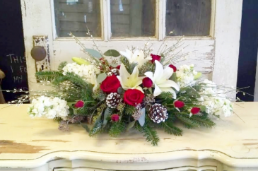 White Christmas Centerpiece