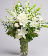 A Classic White Tribute Vase Design