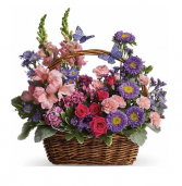A Day in a Basket Basket Arrangement