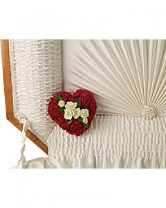 A Devoted Heart  Casket Insert Specialty Arrangement