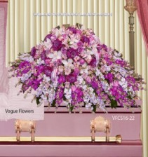A Divine Journey Sympathy Casket Spray