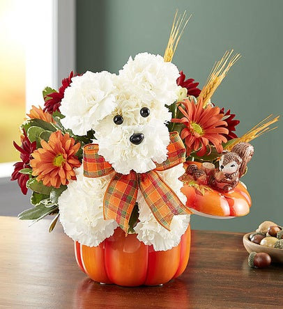 a-DOG-able® for Fall Flower Arrangement