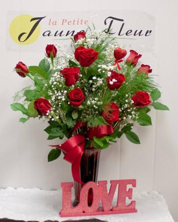 Roses- A Dozen Kisses Add lilys for $150