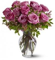 A Dozen Lavender Roses EF13