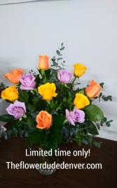 A Dozen Mix Color Roses