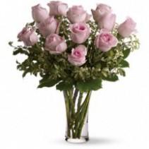 Dozen Pink Roses Rose Bouquet