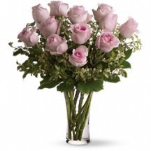 Dozen Pink Roses Rose Bouquet