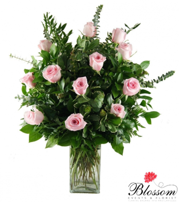 A Dozen Pink Roses  Roses
