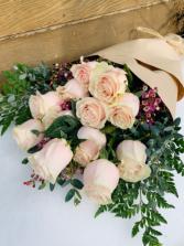 A Dozen Pink Roses  Wrap Bouquet