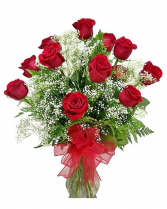Red Rose Vase Arrangement