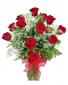Red Rose Vase Arrangement