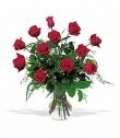 A Dozen Red Roses Vase