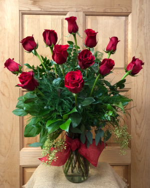 A Dozen Roses  T&V Original in Appleton, WI | TWIGS & VINES FLORAL