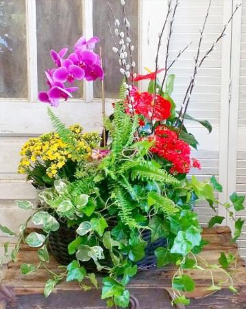 Tropical Paradise European Garden Basket