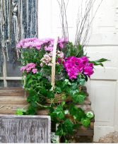 Lush and Lovely  European Garden Basket