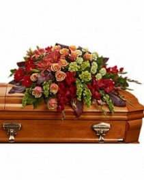 A Fond Farewell  Half Casket Spray