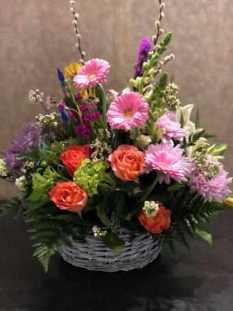 A Garden Dance Basket Arrangement