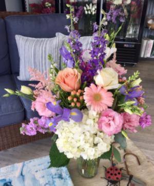 A Gardener's Dream Vase Arrangement  in Mattapoisett, MA | Blossoms Flower Shop