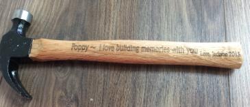 """13"""" hammer Engravable gift"""