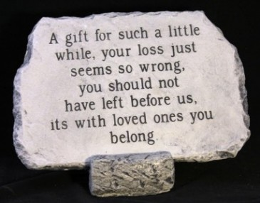 A Gift For Such A Little While Medium Memorial Stone